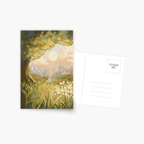 Impressionist Landscape Painting Card Design Postcard