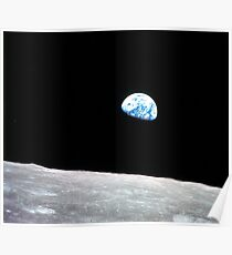 Earthrise Beautiful Astronomy Image Poster