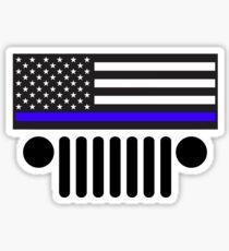 Jeep Police Blue Line Flag Sticker
