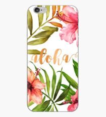 Hawaiisches tropisches BlumenAloha Aquarell iPhone-Hülle & Cover