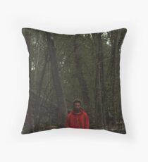Red Teenage Melody Throw Pillow