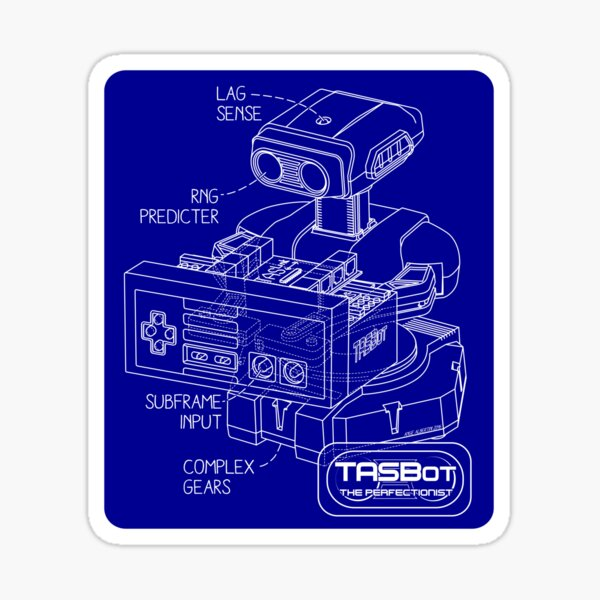 TASBot - the perfectionist Sticker