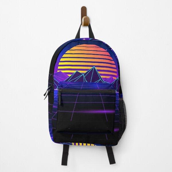 Dazzling Retrowave Sunset Backpack