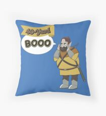40-Yard Booo Throw Pillow