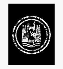 Wolfsburg Logo (Distressed - White) Photographic Print