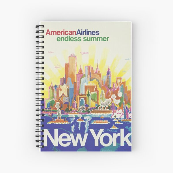 American Airlines - endless summer, New York Spiral Notebook