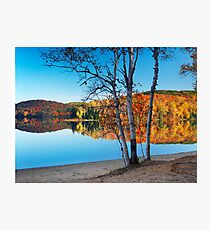Fall nature scenery at Arrowhead lake art photo print Photographic Print