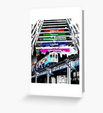 Orange Line and Dime Greeting Card