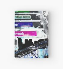 Orange Line and Dime Hardcover Journal