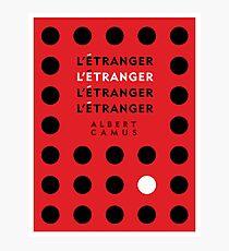 The Stranger by Albert Camus Photographic Print