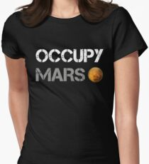 Occupy Mars Shirt Women's Fitted T-Shirt