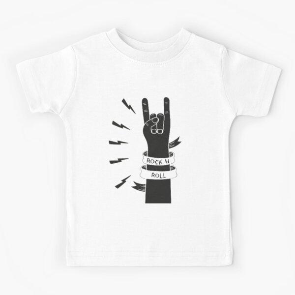 Diseño de mano Rock n Roll Camiseta para niños