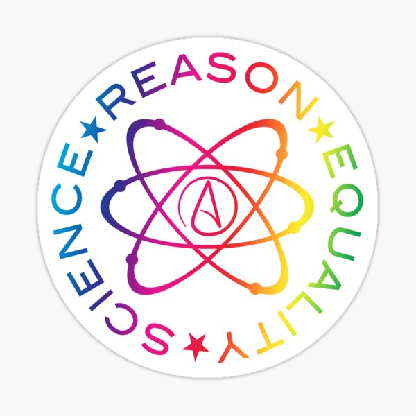 Science Reason Equality - Rainbow  Sticker