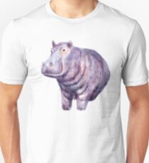 Hand painted hippo T-Shirt