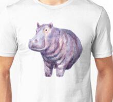 Hand painted hippo Unisex T-Shirt