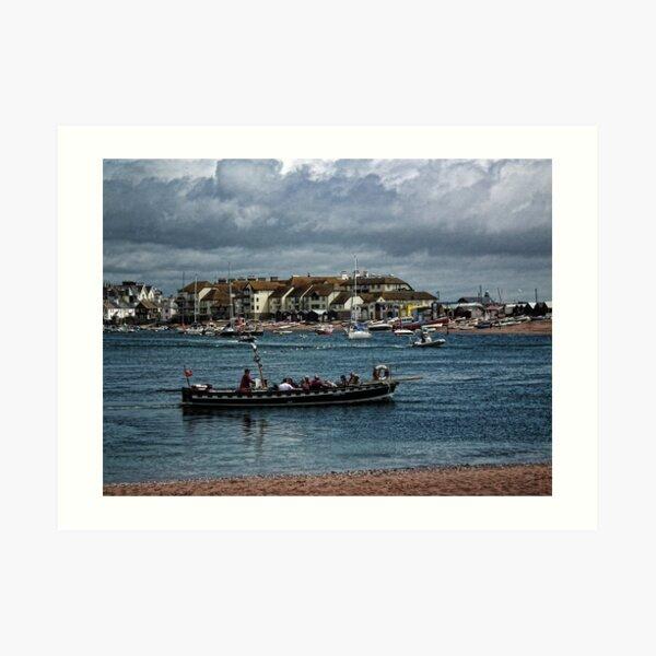 Shaldon Ferry Boat Art Print