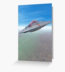 The Flying Saucer II Greeting Card