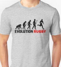Entwicklung des Mannes und des Rugby-lustigen T-Shirts Slim Fit T-Shirt