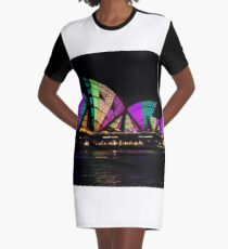 Sydney Vivid 14 Patterns 1 Graphic T-Shirt Dress