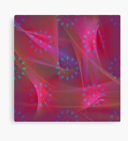 Blue Patterns on Pink Chiffon Canvas Print