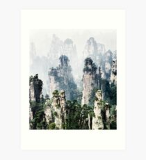 Floating mountains Zhangjiajie National Forest Park art photo print Art Print