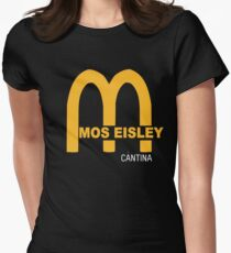 MOS EISLEY CANTINA FAST FOOD T-SHIRT #3 Womens Fitted T-Shirt