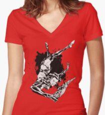 ÆON FLUX Women's Fitted V-Neck T-Shirt