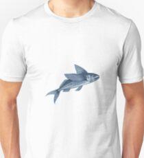 Flying Fish Drawing Unisex T-Shirt