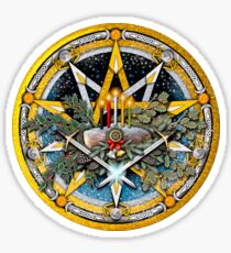 Sabbat Pentacle of the Winter Solstice/Yule Sticker