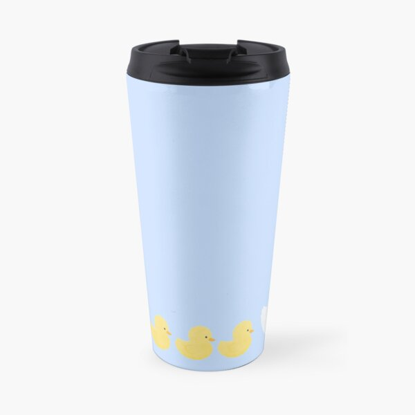 White Duck with Ducklings Travel Mug