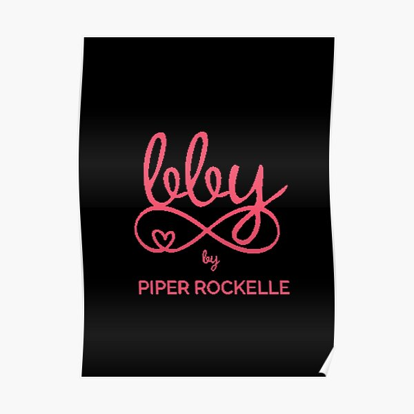 piper rockelle pink typography with hearts  Poster