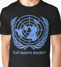 Flat Earth Society Graphic T-Shirt