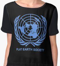 Flat Earth Society Chiffon Top