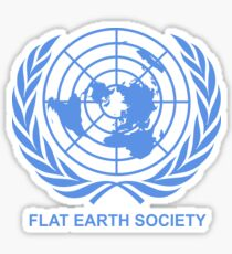 Flat Earth Society Sticker