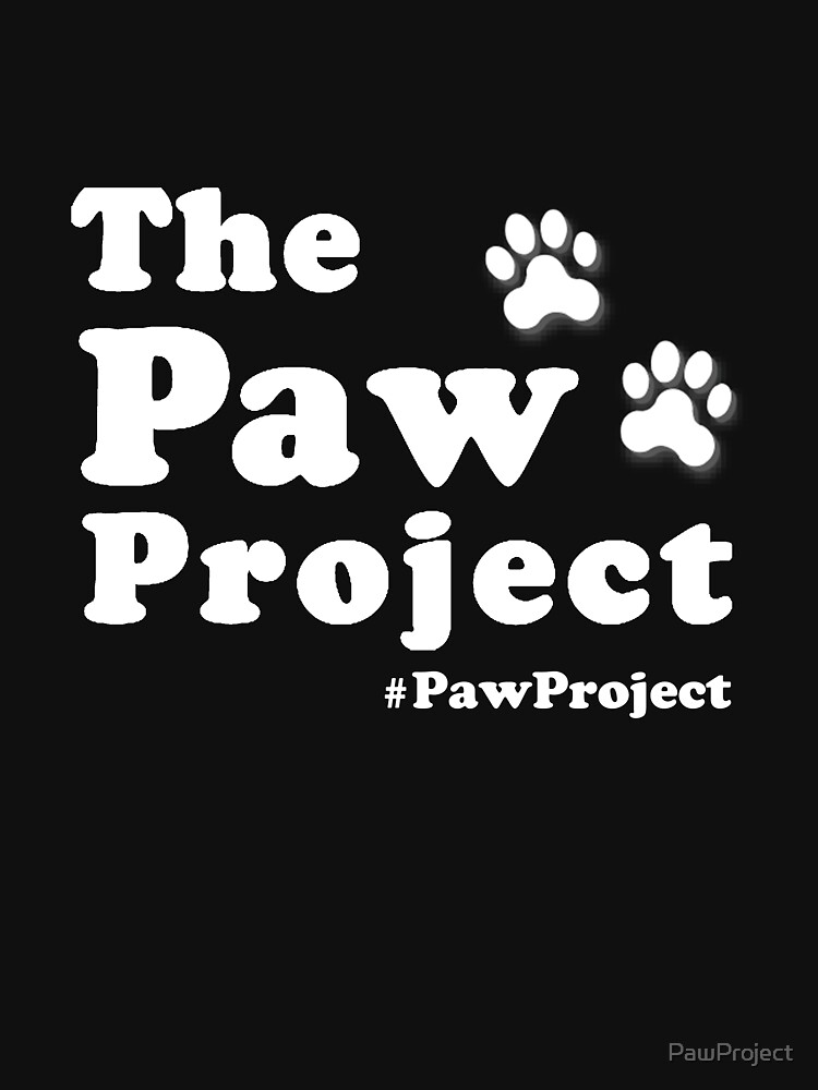 Paw Project Logo in White | Unisex T-Shirt