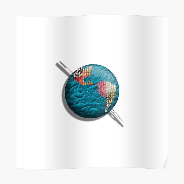 patchwork Globe Logo Poster