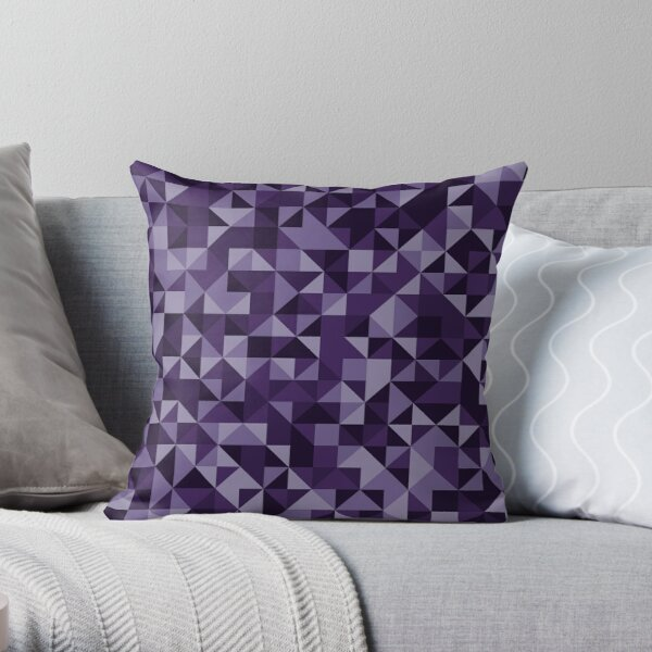 Mental Purple Throw Pillow