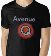 a5fbb2afa213 AVENUE Q Men s V-Neck T-Shirt