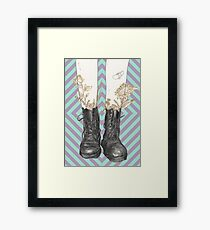 Boots are made for walking Framed Print