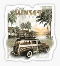 SURF SUNSET Sticker