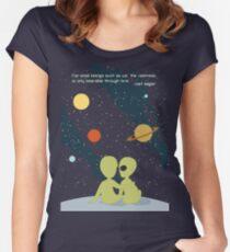 Carl Sagan Alien Love Women's Fitted Scoop T-Shirt