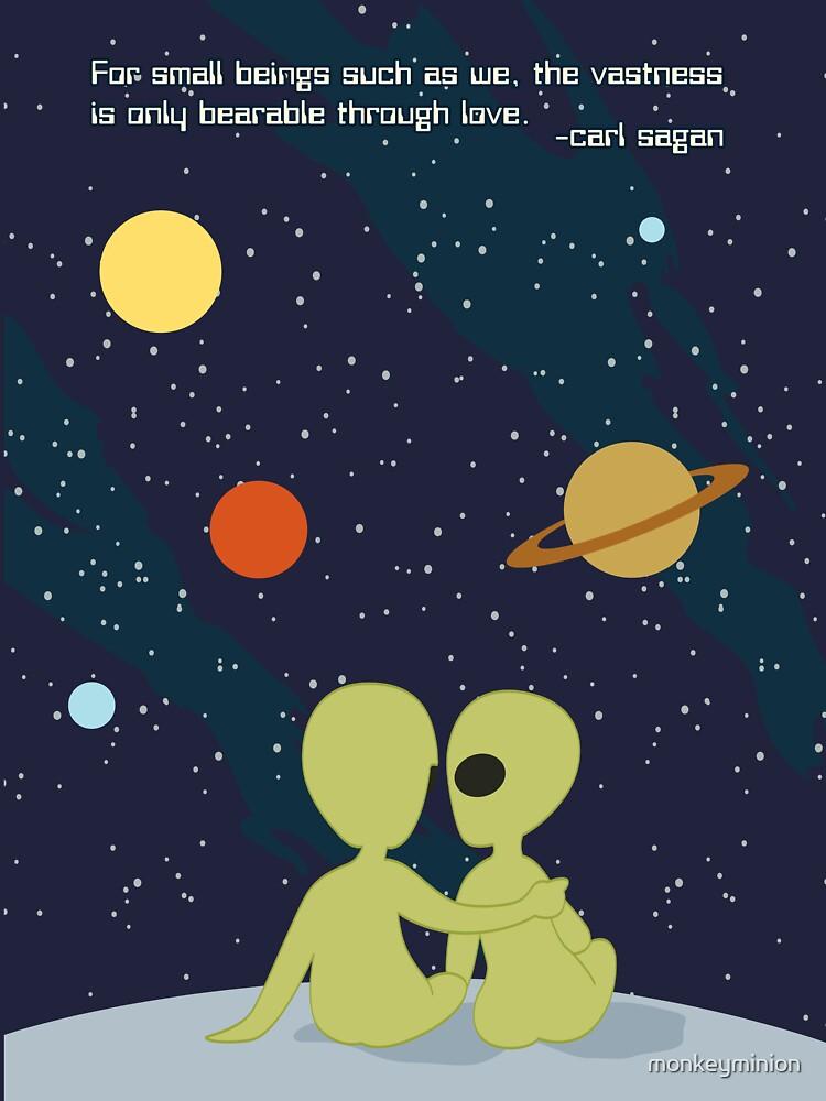 Carl Sagan Alien Love Lightweight Hoodie By Monkeyminion Redbubble Custom Carl Sagan Love