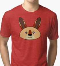 Kangaroo - Australian animal design Tri-blend T-Shirt