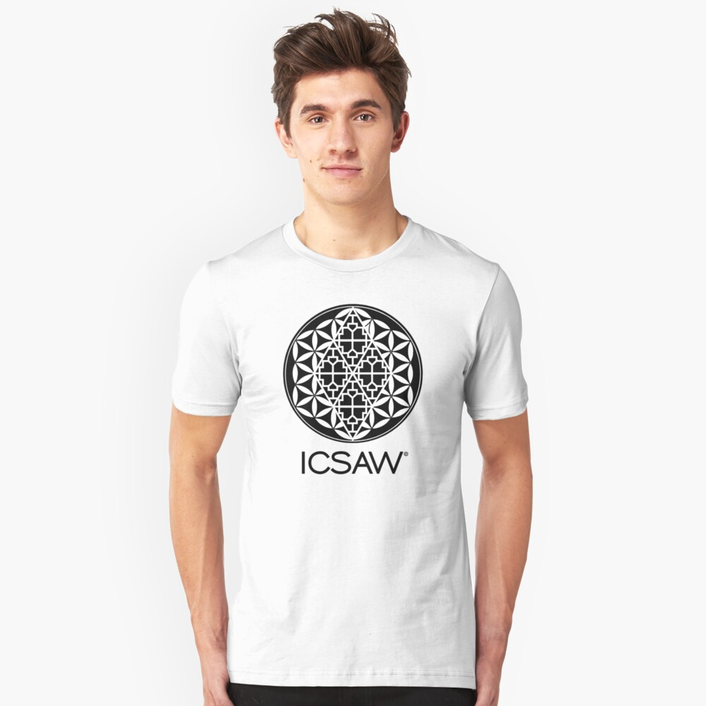 ICSAW Black and White Slim Fit T-Shirt