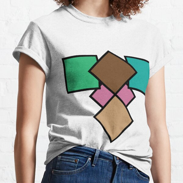 Retro Colored Squares Classic T-Shirt