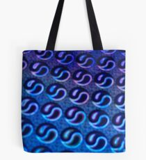 Blue Yin & Yang Abstract Pattern Tote Bag