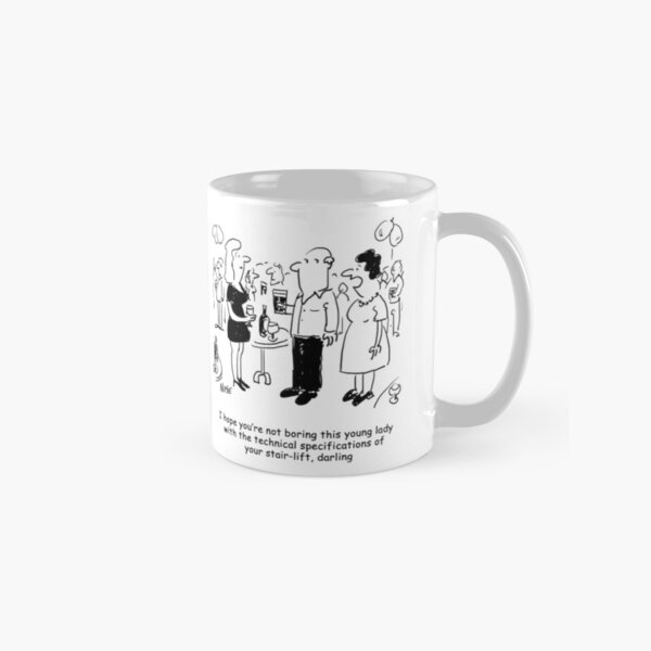 Stairlift specifications cartoon. Classic Mug