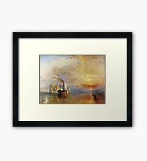 The Fighting Temeraire by JMW Turner Framed Print