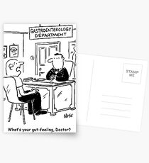 Doctor is asked what his gut-feeling is Postcards
