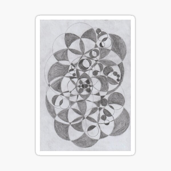 Geometrical Circles Sticker